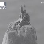 Das kleinste Schloss der Welt steht auf einer Bleistiftspitze