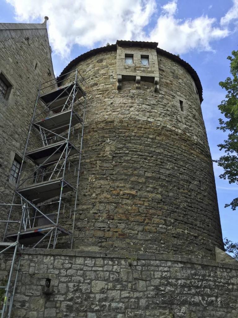 Bergfried der Hornburg. Die Stiftung Denkmalschutz unterstützt Sanierungsarbeiten / Foto: © Deutsche Stiftung Denkmalschutz/Siebert
