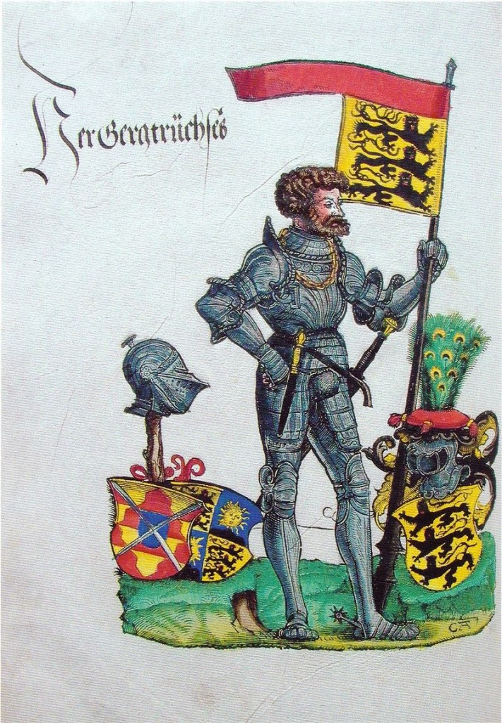 """Der """"Bauernjörg"""" nach einem kolorierten Holzschnitt von Hans Burgkmair d. Ä. / Bild: gemeinfrei"""