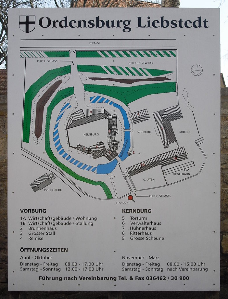 Grundriss der Ordensburg Liebstedt / Foto: gemeinfrei