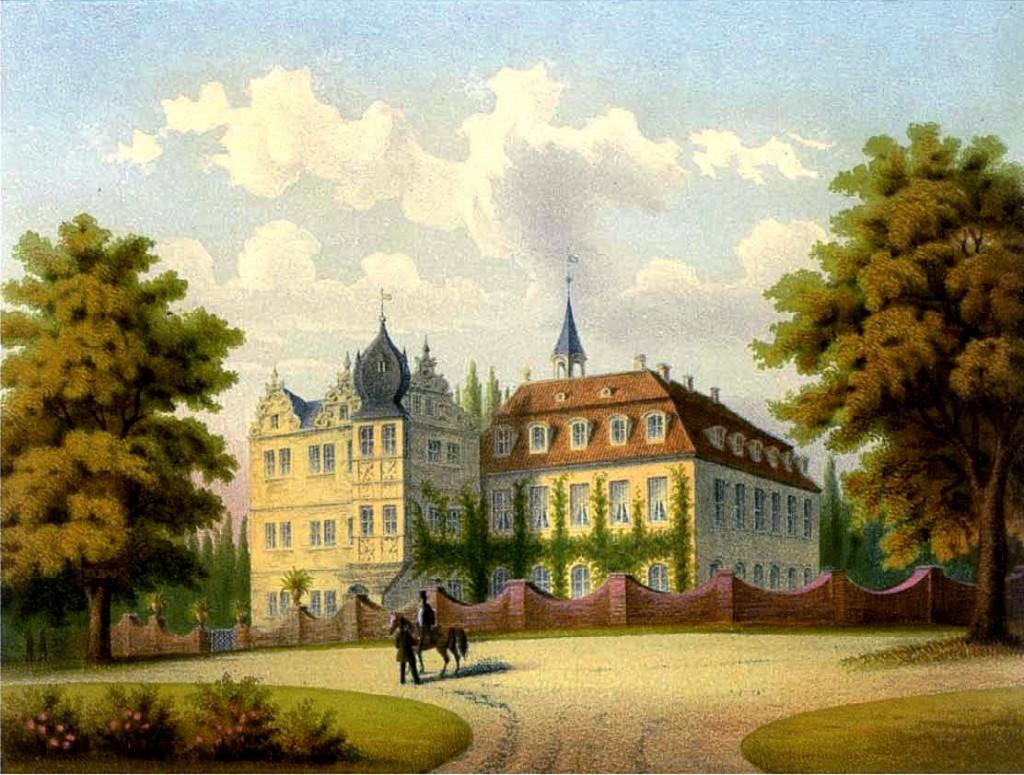So sah das Wasserschloss St. Ulrich im 19. Jahrhundert aus / Foto: gemeinfrei