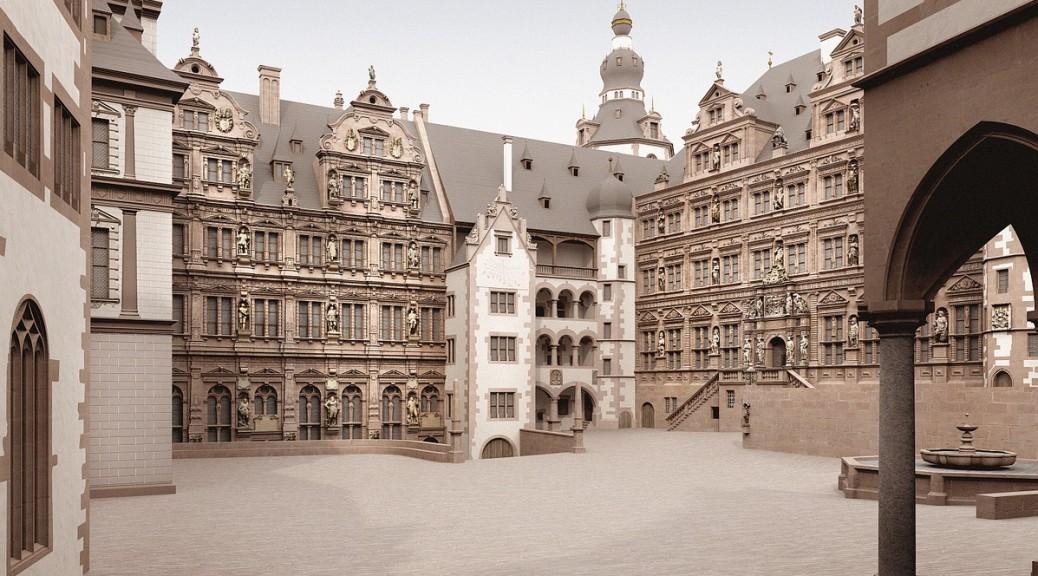 Heidelberger Schloss Rekonstruktion Schlosshof