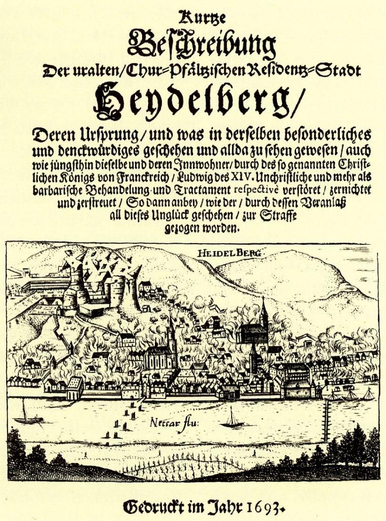 Schrift von 1693: Nachrichten von der Zerstörung des Schlosses verbreiteten sich in Windeseie / Bild: gemeinfrei