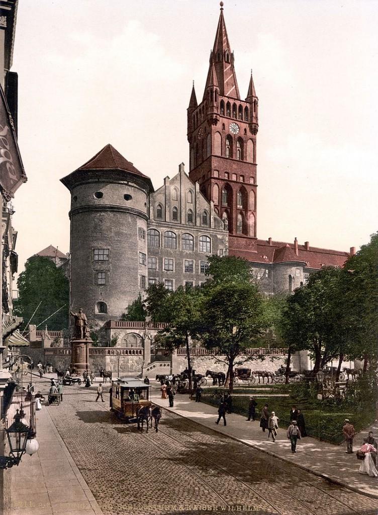 Das Königsberger Schloss um 1900 / Foto und Bild oben: gemeinfrei