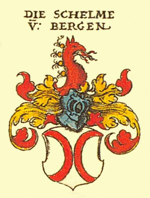 Das Wappen der Schelme von Bergen / Bild: gemeinfrei