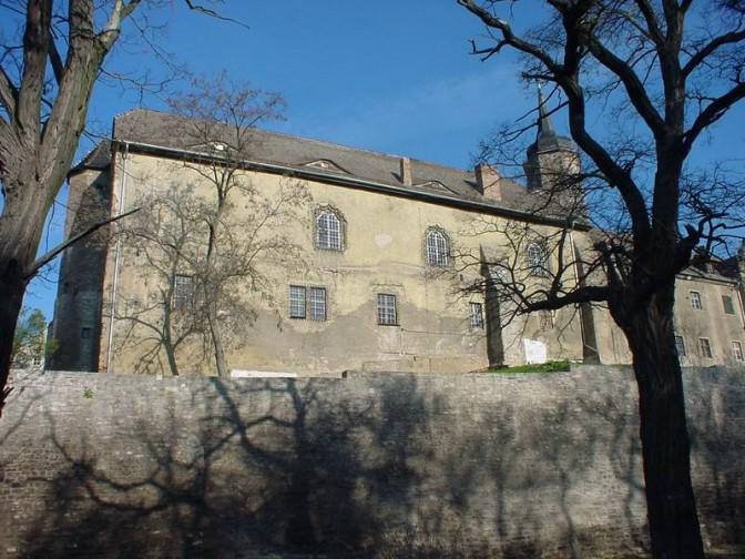 Schloss Seeburg soll versteigert werden: Hier der Mansfeldische Schlossbau / Foto: gemeinfrei