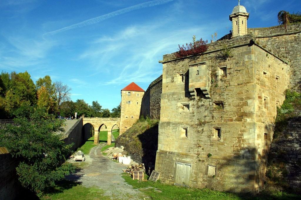 Festung Hohenasperg Torturm, Graben und Turm /  Foto: © MSeses / CC-BY-SA 3.0