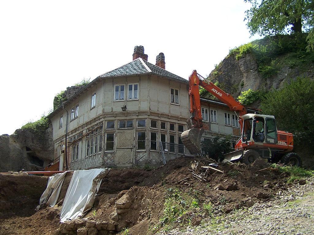 Bauarbeiten an Schloss Altenstein 2011 / Foto: Wikipedia / Metilsteiner / CC-BY-SA 3.0