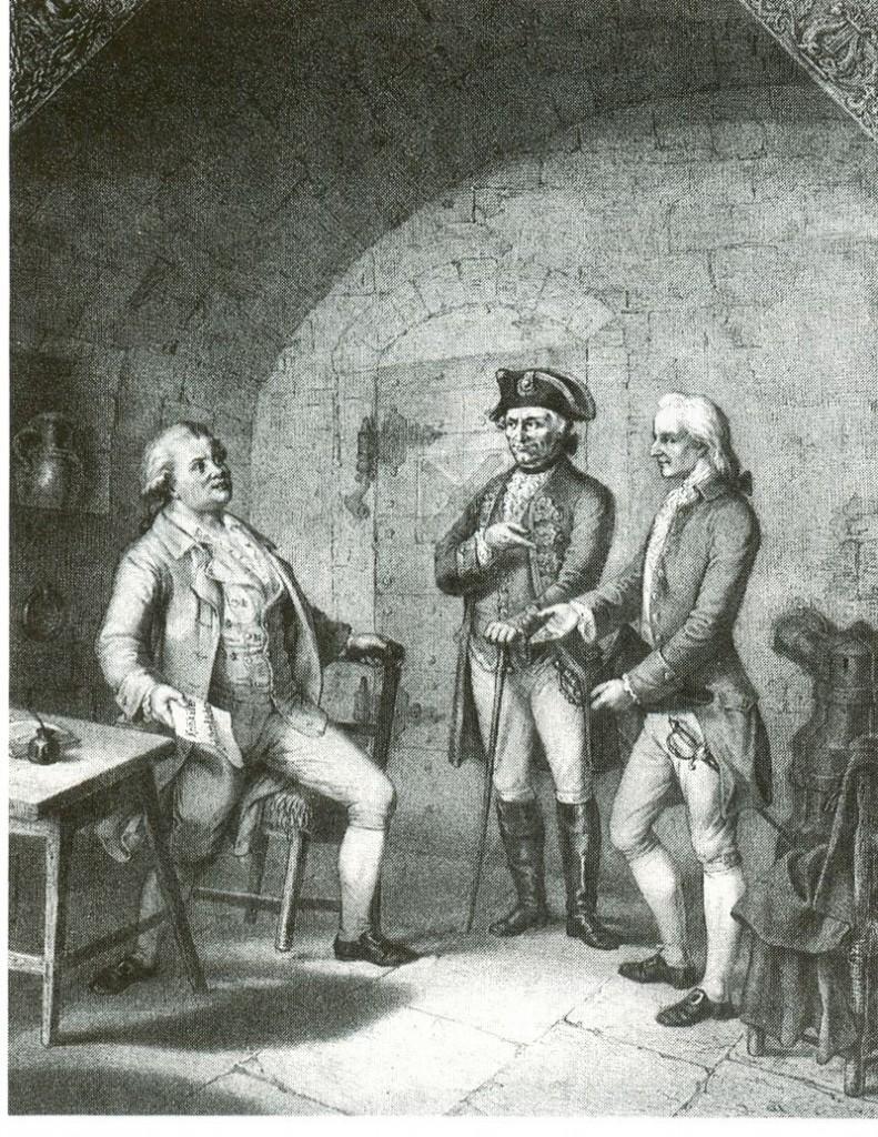 Friedrich Schiller 1781 zu Besuch bei Dichterkollege Schubart auf dem Hohenasperg / Bild: gemeinfrei