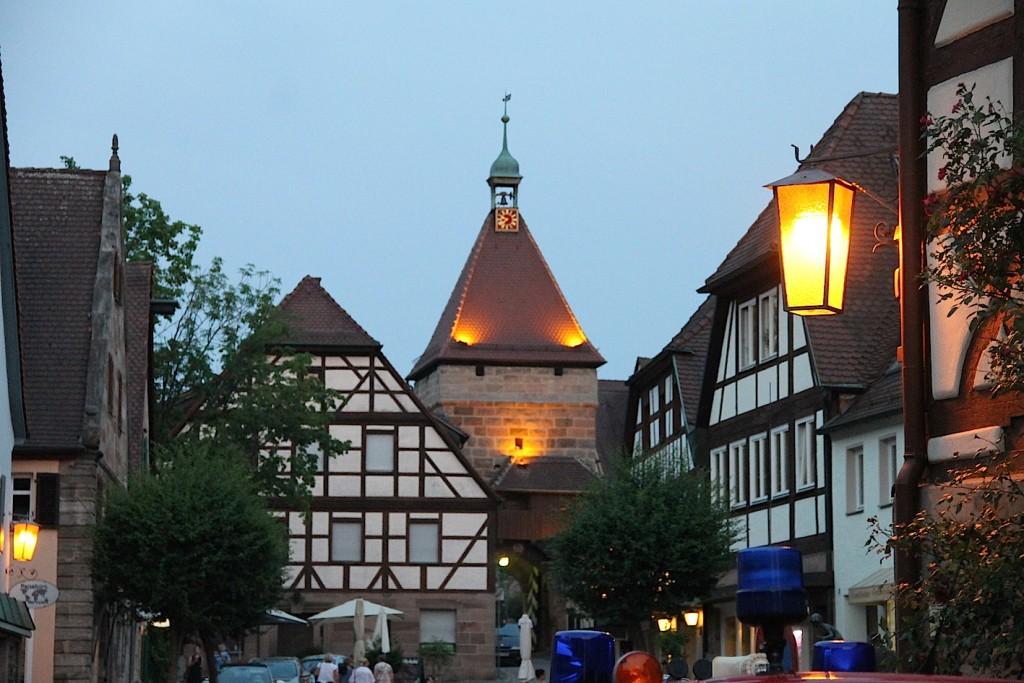 Das vor der Burg liegende Zentrum des Örtchens Cadolzburg ist auch ganz ansehnlich.