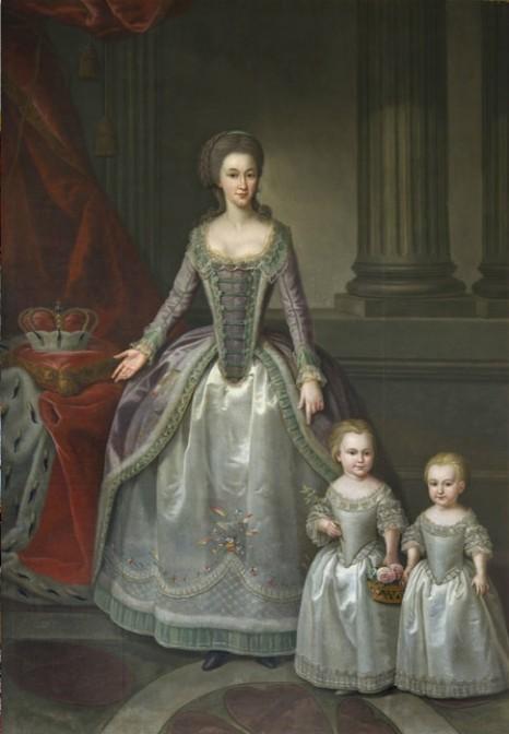 Dorothea von Biron mit ihren Kindern. Sie ließ Schloss Tannenfeld bauen. Foto: gemeinfrei