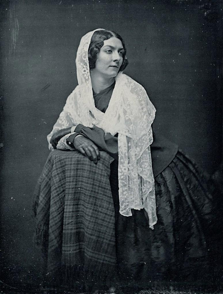 Lola Montez auf einer Daguerrotypie 1851 - acht Jahre nach dem Rauswurf aus Ebersdorf / Foto: gemeinfrei