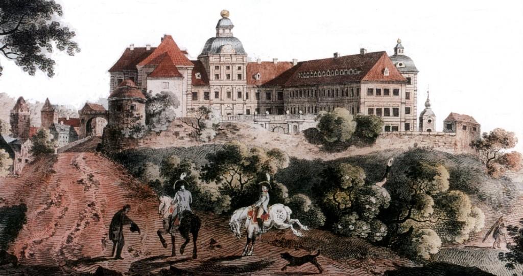 So sah das Schloss 1786 als herzögliche Residenz aus / Bild: gemeinfrei