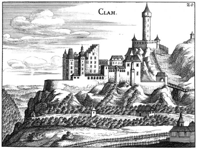 Burg Clam im Jahr 1974 / Bild: gemeinfrei