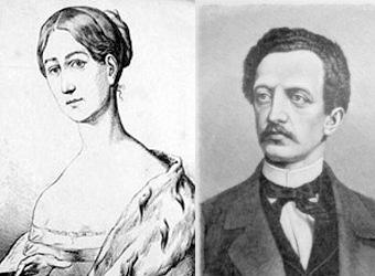 Gräfin Lassalle und Ferdinand Lassalle / Bilder: gemeinfrei