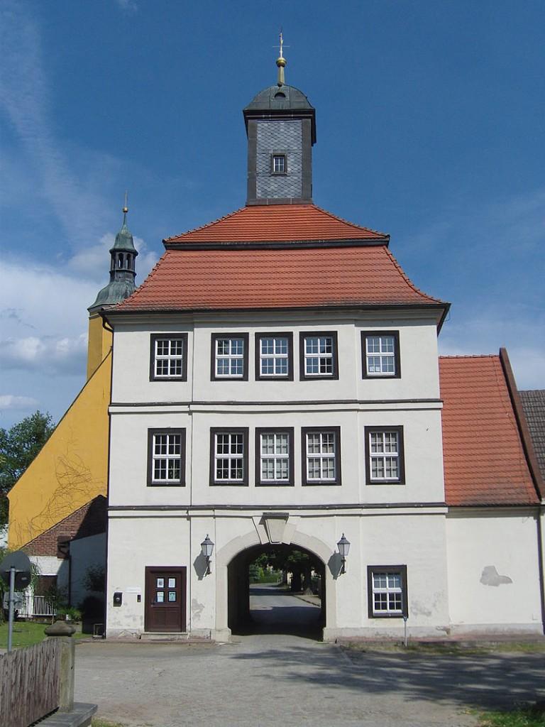 Das Torhaus von Schloss Lindenau / Foto: Wikipedia /  Z thomas / CC-BY-SA 3.0