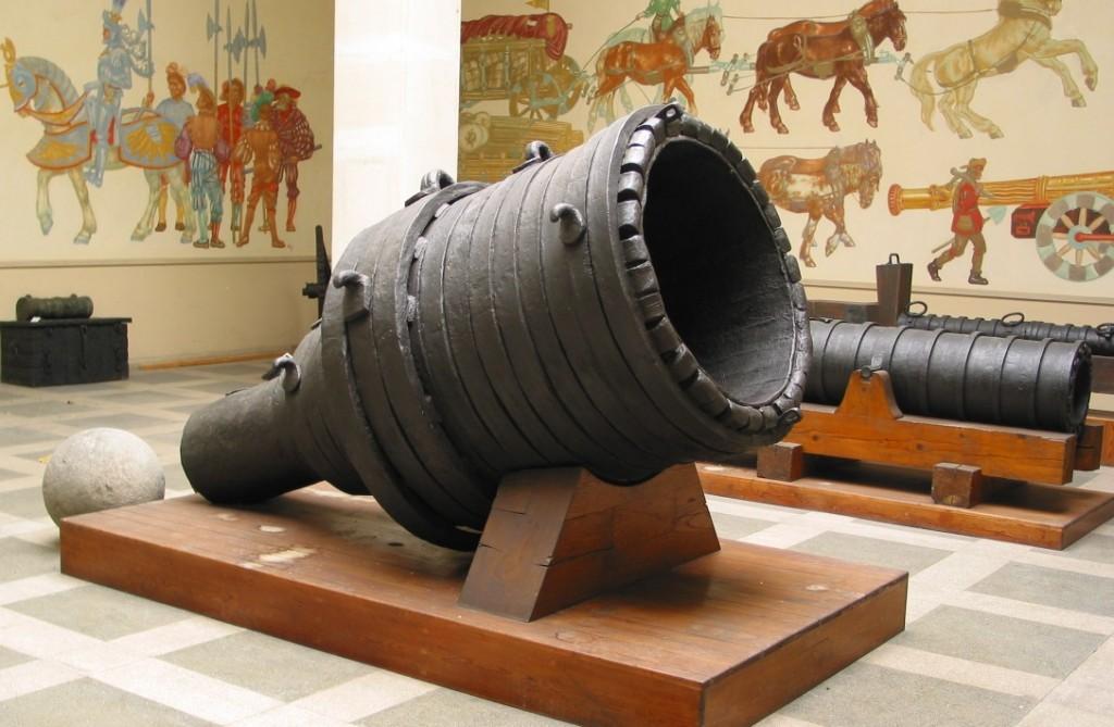 Die Bombarde Pumhart von Steyr im Heeresgeschichtlichen Museum Wien. Foto: gemeinfrei