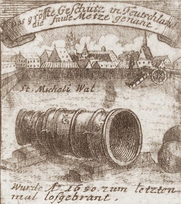 """Die """"Faule Mette"""" aus Braunschweig wurde 1787 eingeschmolzen. Bild: gemeinfrei"""