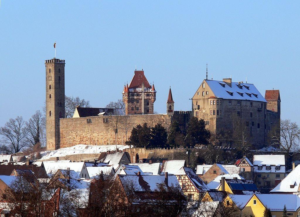 Burg Abenberg im Winter / Foto: Wikipedia / Wolfgang Sauber / CC-BY-SA 3.0