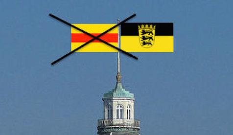 Schloss_Karlsruhe_Baden Flagge