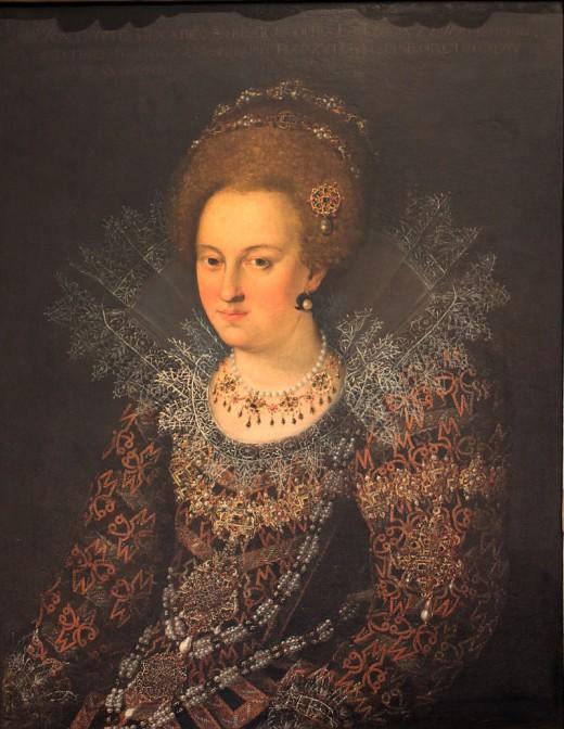 Herzogin Sophia (hier ein Bild von 1618) kümmerte sich bis zu ihrem Tod 1636 um das Schloss - ohne dort zu wohnen. Bild: gemeinfrei