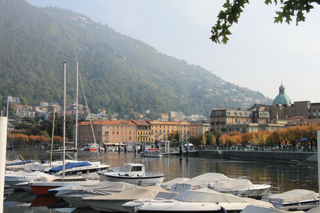 Die Uferpromenade von Como / Foto: Burgerbe.de / Foto oben: Italienisches Kulturerbe-Ministerium
