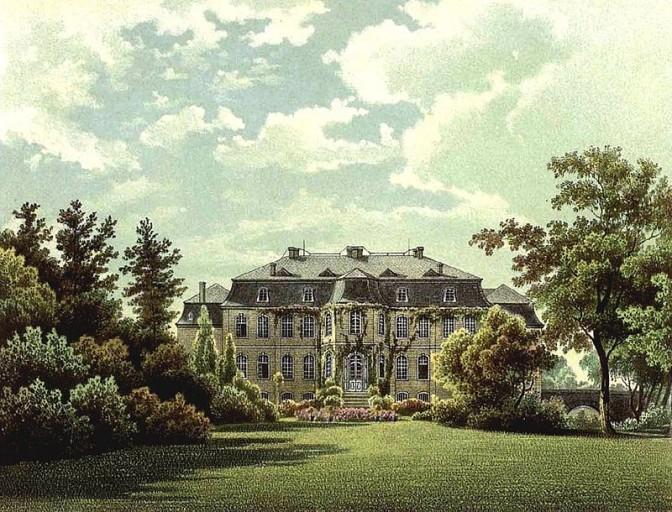 Schloss Wahn um 1860 / Bild: gemeinfrei
