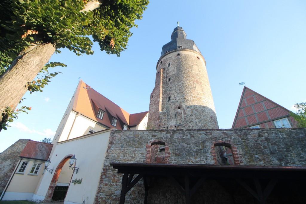 Der Bergfried ist gut 40 Meter hoch, Foto: Burgerbe.de