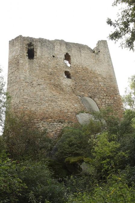 Der Wohnturm blieb als Ruine zurück / Foto: gemeinfrei