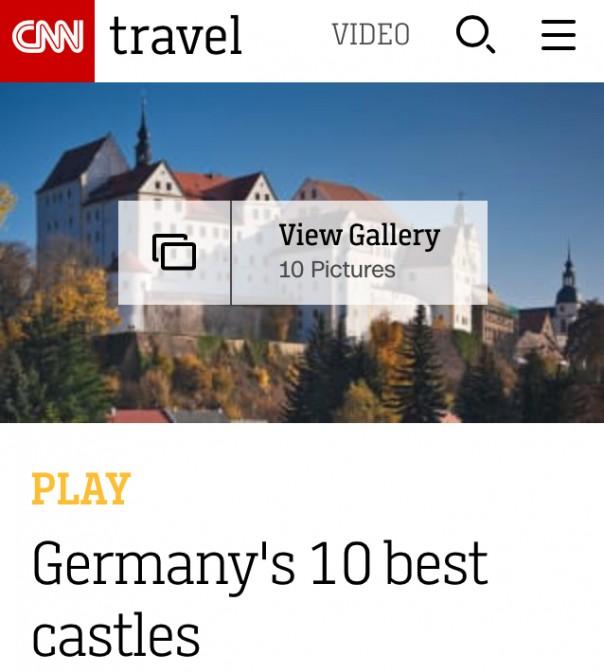 Deutschlands Castel-Top-10 bei CNN.com (Screenshot der mobilen Seite)