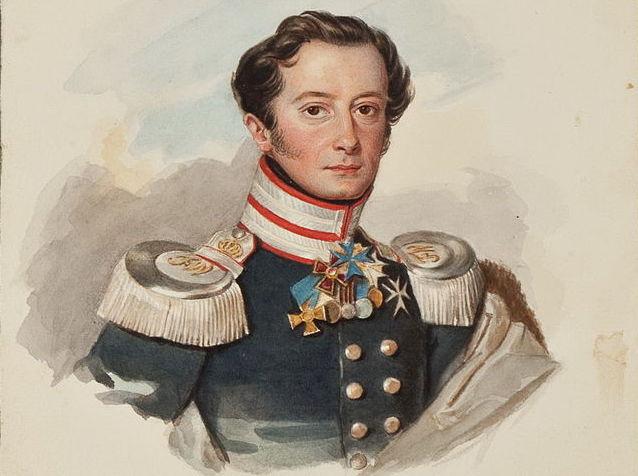 Schloss Schlemmin-Erbauer Wilhelm Ulrich von Thun als preußischer Major in den 1820er Jahren. Bild: gemeinfrei