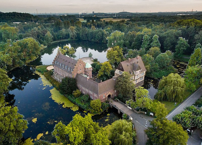 Schloss Wittringen aus der Luft / Foto: Wikipedia / Marcel Reidock / CC-BY-SA 4.0