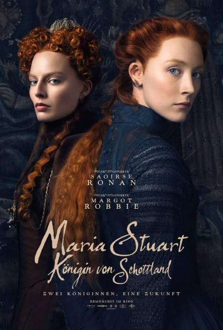 "Das Filmplakat zu ""Maria Stuart"" / Bild oben: Holyrood Palace in Edinburgh / Foto:  Wikipedia / HylgeriaK / CC-BY-SA 3.0"