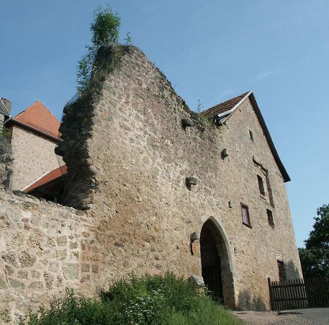 Burg Tannenberg: Westansicht / Foto: Wikipedia / 2micha / GPL