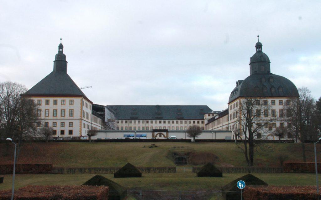 Frontalansicht der Fassade von Schloss Friedenstein in Gotha