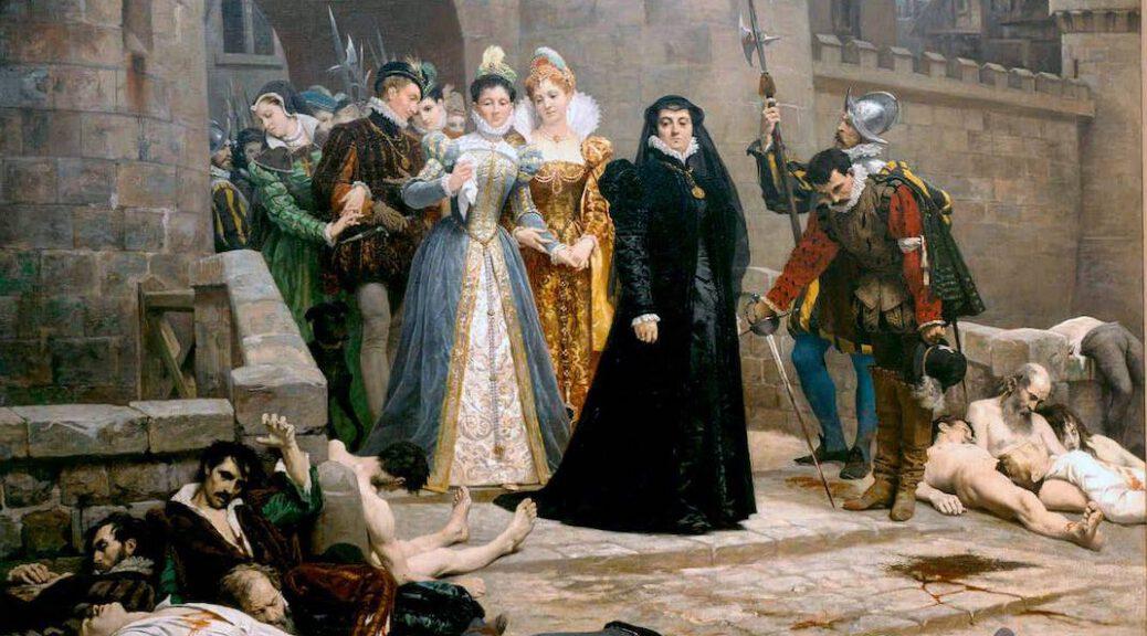 Vor dem Louvre: Katharina von Medici